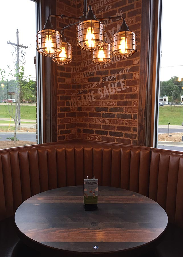 Zaxbys Custom Walls & Special Light Fixtures