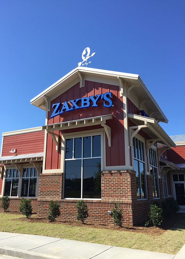 Zaxbys Restaurant Construction